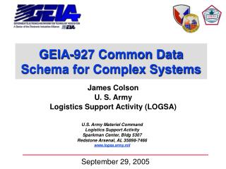 GEIA-927 Common Data Schema for Complex Systems