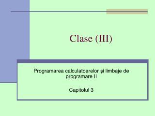 Clase (III)