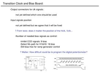 Transition Clock and Bias Board: