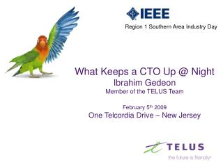 What Keeps a CTO Up @ Night Ibrahim Gedeon Member of the TELUS Team February 5 th  2009