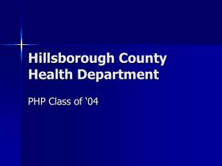 Hillsborough County Health Department