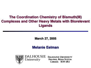March 27, 2005 Melanie Eelman