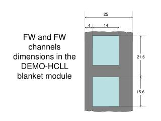FW and FW channels dimensions in the DEMO-HCLL blanket module