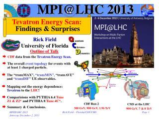 MPI@LHC 2013