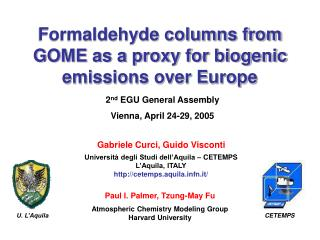 Formaldehyde columns from GOME as a proxy for biogenic emissions over Europe