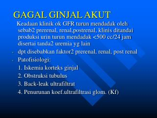 PPT - GAGAL GINJAL AKUT PowerPoint Presentation - ID:1265851