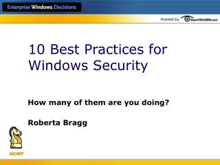 10 Best Practices for Windows Security