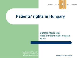 Patients' rights in Hungary