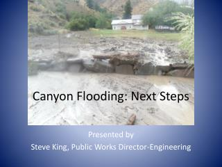 Canyon Flooding: Next Steps