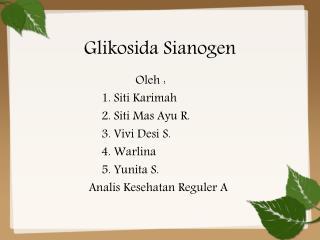 Glikosida Sianogen