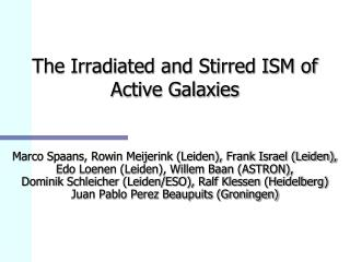 The Irradiated and Stirred ISM of          Active Galaxies