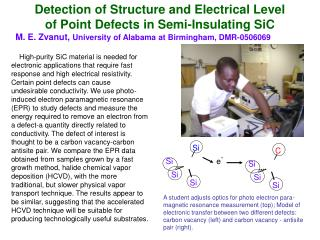 Detection of Structure and Electrical Level  of Point Defects in Semi-Insulating SiC