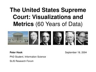 The United States Supreme Court: Visualizations and Metrics  (60 Years of Data)