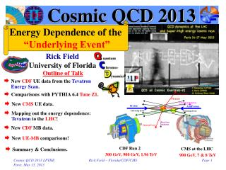 Cosmic QCD 2013