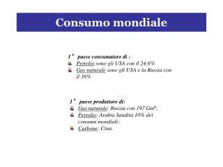 Consumo mondiale