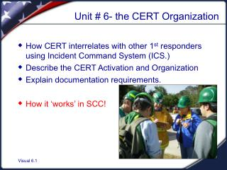 Unit # 6- the CERT Organization