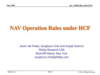 NAV Operation Rules under HCF