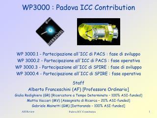 WP3000 : Padova ICC Contribution