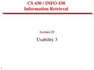 CS 430 / INFO 430  Information Retrieval