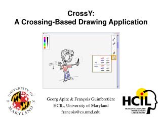 CrossY: A Crossing-Based Drawing Application