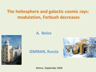 The  heliosphere  and galactic cosmic rays:  modulation,  Forbush  decreases