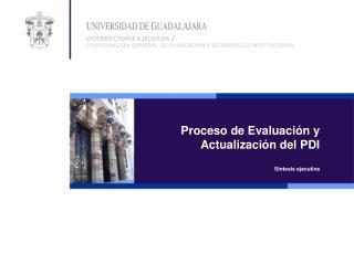 Proceso de Evaluación y  Actualización del PDI Síntesis ejecutiva