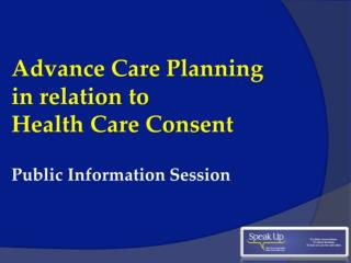 Health Care Consent Act 1996  (HCCA)