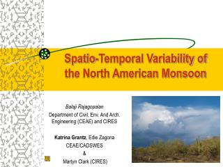 Spatio-Temporal Variability of the North American Monsoon