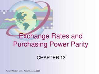 Exchange Rates and Purchasing Power Parity
