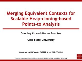 Merging Equivalent Contexts for Scalable Heap-cloning-based Points-to Analysis