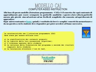 MODELLO  CAI