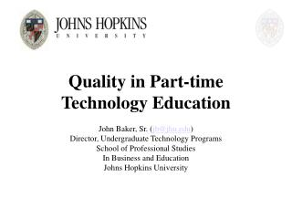 Quality in Part-time Technology Education