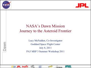 NASA's Dawn Mission Journey to the Asteroid Frontier