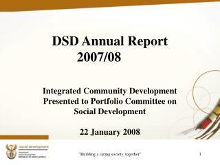 DSD Annual Report 2007/08