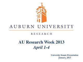 AU Research Week 2013 April  1 -4