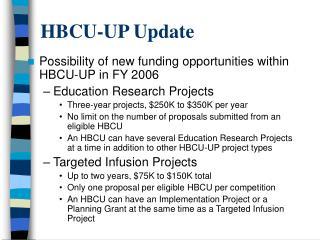 HBCU-UP Update