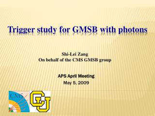 Trigger study for GMSB with photons
