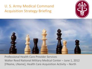 U. S. Army Medical Command Acquisition Strategy Briefing