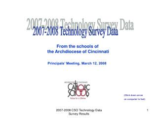 2007-2008 Technology Survey Data