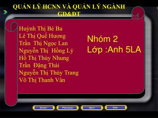 QUẢN LÝ HCNN VÀ QUẢN LÝ NGÀNH GD&ĐT