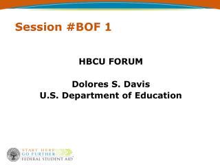 Session #BOF 1