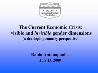 Rania Antonopoulos July 13, 2009