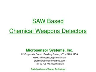 SAW Based  Chemical Weapons Detectors