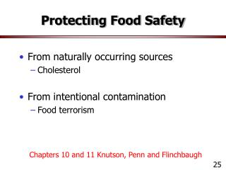 Protecting Food Safety
