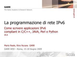 La programmazione di rete IPv6