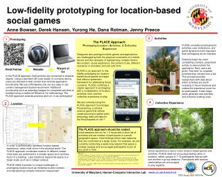 Low-fidelity prototyping for location-based social games