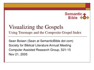 Visualizing the Gospels  Using Treemaps and the Composite Gospel Index