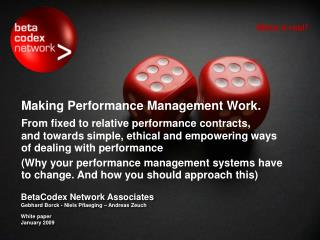 Making Performance Management Work.