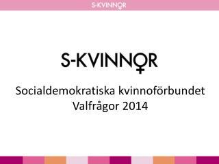 Socialdemokratiska kvinnoförbundet  Valfrågor 2014