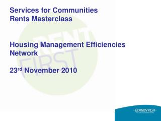Today�s Rent First Masterclass presenters